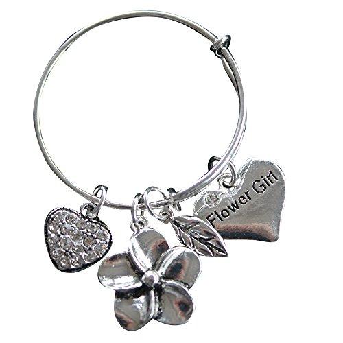 Flower Girl Bracelet, Flower Gir Jewelry- Bangle Bracelet-Makes the Perfect Gift For Flower Girls
