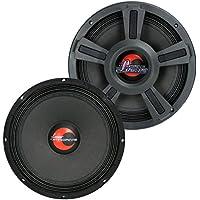 2) Lanzar OPTI10MI 10 2000 Watt 4-Ohm High Power Mid Bass Car Audio Speakers