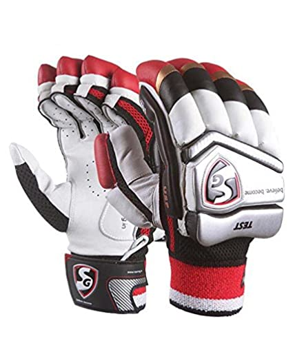 3152f27bd Amazon.com   SG Cricket Leather Batting Gloves   Sports   Outdoors