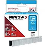 Arrow Fastener 508SS1 Genuine T50 1/2-Inch Stainless Staples, 1,000-Pack