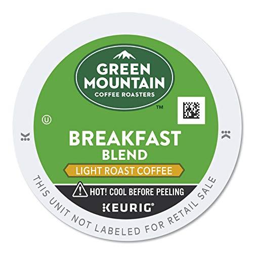 Green Mountain Coffee Roasters Breakfast Blend Single-Serve Keurig K-Cup Pods, Light Roast Coffee, 96 Count