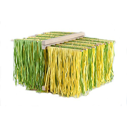 Eppicotispai X-Large Natural Beachwood Collapsible Pasta Drying Rack, Brown
