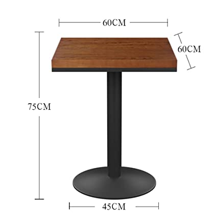 Stands DD Retro Solid Wood Dining Table Bar Fast Food Snack Square Loft Industrial