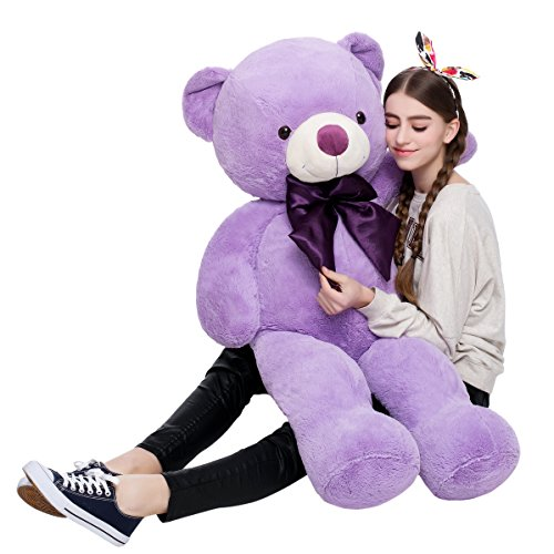 Misscindy Giant Teddy Bear Plush Stuffed Animals for Girlfriend or Kids 47 inch, (Purple) - Giant Plush Bear