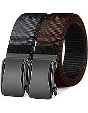 Cinturón de trinquete reversible, Bulliant Cinturón deportivo de golf para hombre para pantalones vaqueros casuales, un cinturón con 2 colores