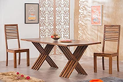 Mamta Decoration Solid Wood Leh Dining Table Set 6 Seater Table