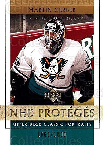 (CI) Martin Gerber Hockey Card 2002-03 UD Classic Portraits (base) 103 Martin Gerber