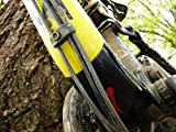 All Mountain Style AMSFG1CLSV Honeycomb High Impact Frame Guard Basic – Protects Your Bike from Scratches and dings, Clear/Silver