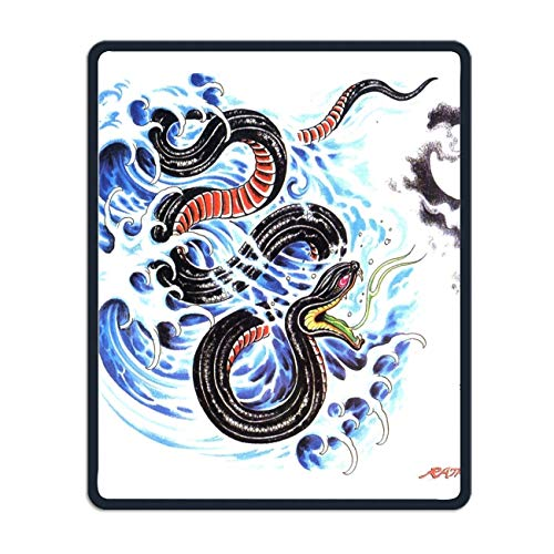 - Artistic Tattoo Oriental Asian Mouse Pad,Gorgeous Color Printed Mousepad Non Slip Rubber Mouse pad Gaming Mouse Pad