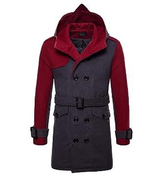 Hood Contrast Dust Fit Woolen Mid Belted Men's Andopa Xs Coat As1 Long Outwear wIz6HUq