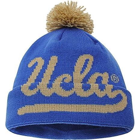 Amazon.com   adidas UCLA SLD UCLA Beanie Blue with Yellow POM Big ... 9887fe61530