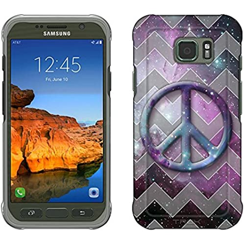 Samsung Galaxy S7 Active Case, Snap On Cover by Trek Peace on Nebula Grey Chevrons Slim Case Sales
