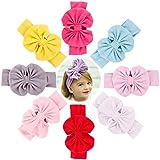 8 PCS Large Cotton Soft Baby Girls Elastic...
