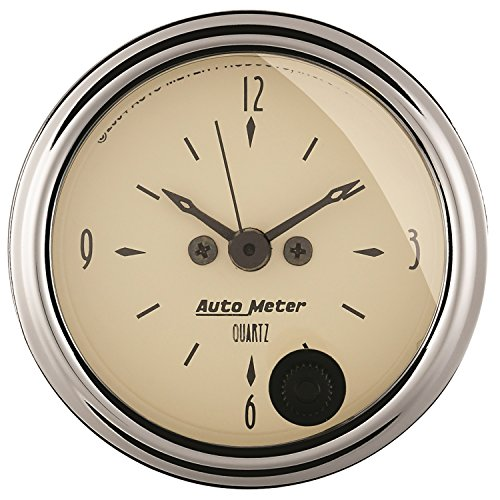 Autometer Clock - Auto Meter 1885 Antique Beige Clock