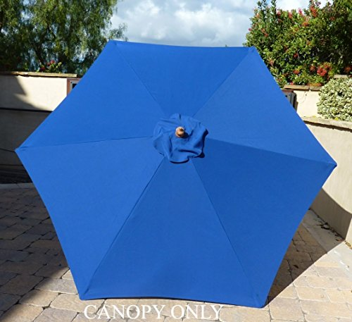 Formosa Covers 9ft Umbrella Replacement Canopy 6 Ribs in Royal Blue (Canopy Only)