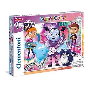 Clementoni Clementoni 27088 Glitter Puzzle Vampirina 104 Pices Clementoni 27088 Supercolor Puzzle Vampirina 104 Pezzi Disney Multicolore 27088