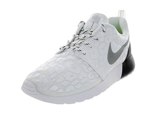 41da1f38dcfb Women s Nike Rosherun Premium 525321 100 White Reflect Silver Black Running  Shoe (WOMEN SIZE 8.5