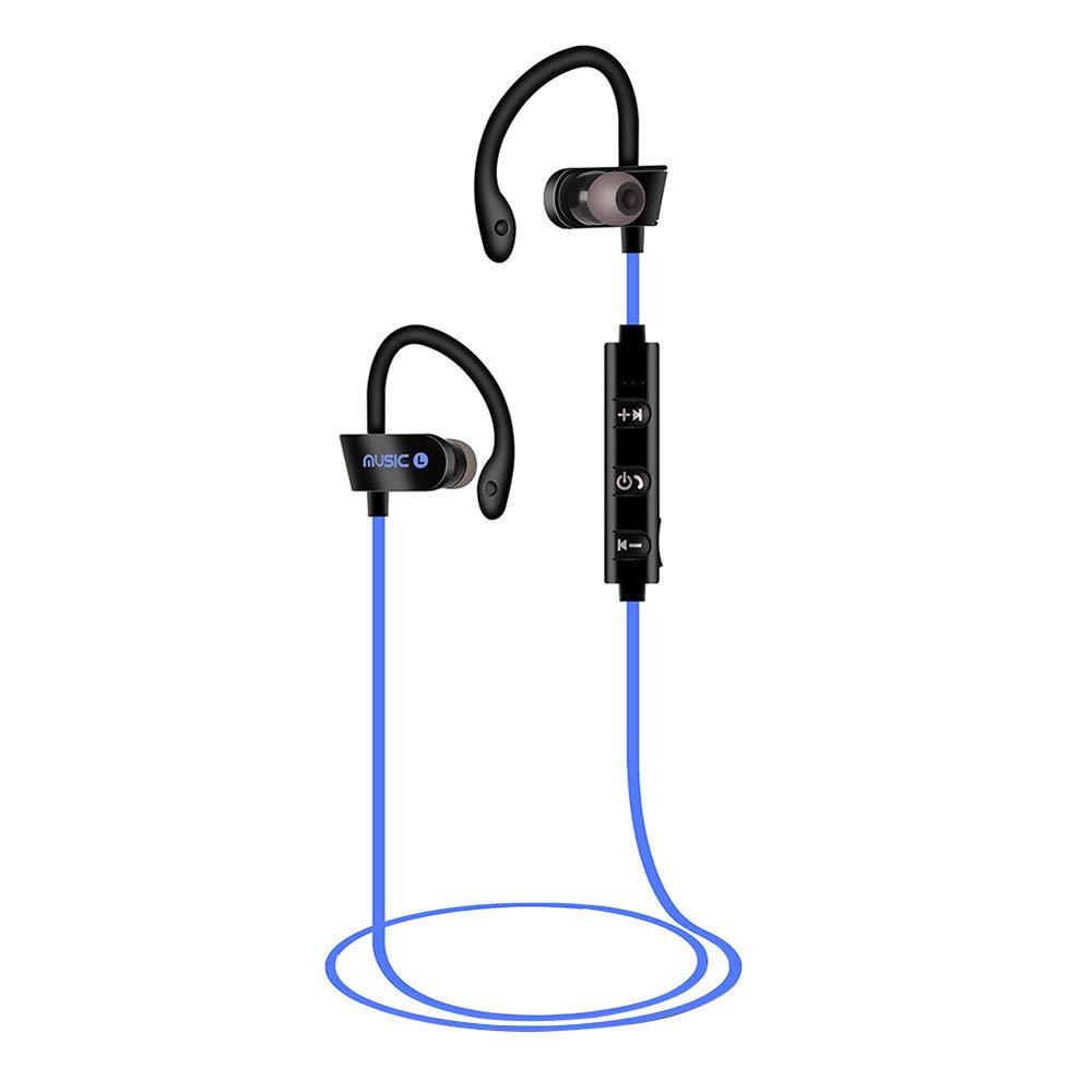 Ear Hook Wireless Earbuds Sports Sweatproof Stereo Bluetooth Headset Built-in Mic CVC 6.0 Smart Noise Cancelling Headphones Low Latency Instant Pairing Universal Earphones