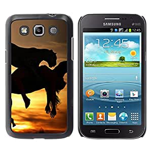 Paccase / SLIM PC / Aliminium Casa Carcasa Funda Case Cover para - Mustang Galloping Horses Sunset Stallion - Samsung Galaxy Win I8550 I8552 Grand Quattro