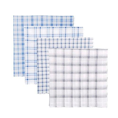 Neatpal 100% Cotton Men's Handkerchiefs Check Pattern Hankies by Neatpal (Image #2)