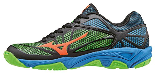 JNR Neongreen Black Star Mizuno Chaussures Vibrantorange Enfant Exceed Mixte Tennis Nero de qEw6RC