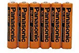 #10: Panasonic Rechargeable NiMH AAA Batteries for Cordless Phones ~ Pack of 6 + Free Battery Case