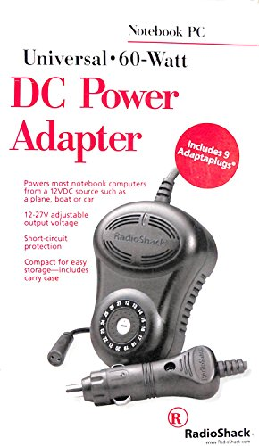 Radio Shack Universal Notebook Computer DC Power Adapter/Charger for Autos, Planes or Boats