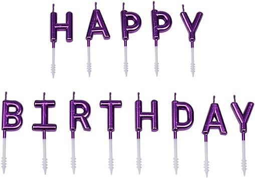 Amazon.com: Willcan - Velas de felicitación de cumpleaños de ...