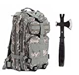 Ultimate Arms Gear Surviaval Combo: 13″ Tactical 3 in 1 Mulit-Use Emergency Supply Tool Chop Hatchet Axe + Flat Head Hammer + Wrecking Ripping Pry Bar with Rubberized Grip Handle + ACU Army Digital Camouflage Compact Level 3 Full Featured Assault Pack Backpack 3 Day Bug Out Bag Equipment Transport with Adjustable Shoulder Straps MOLLE Modular Range Military Army Hunting Camping For Sale