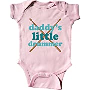 inktastic - Daddy's Little Drummer Infant Creeper 6 Months Pink