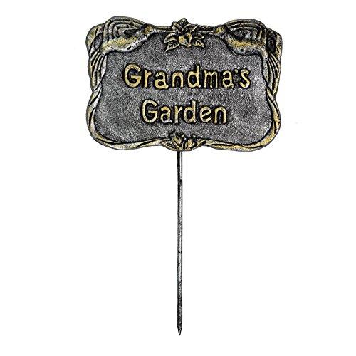 Oakland Living Decorative Garden Marker, Grandmas Garden, Antique Pewter