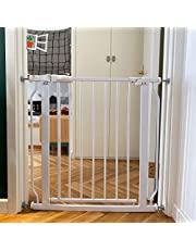 BalanceFrom Easy Walk-Thru Safety Gate for Doorways and Stairways with Auto-Close/Hold-Open Features, Multiple Sizes