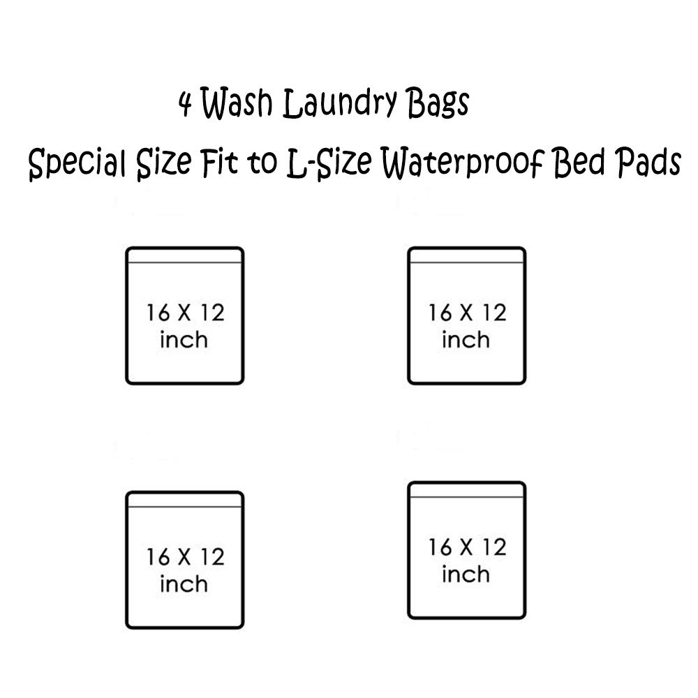 2 Packs MICROFIRE Waterproof Bed Pad Mattress Protector Incontinence Sheet for Baby Toddler Kids Pets Adults 28X 43 L