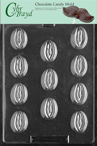 Cybrtrayd XX524 Bite Size Ladies Chocolate Candy Mold with Exclusive Cybrtrayd Copyrighted Chocolate Molding Instructions