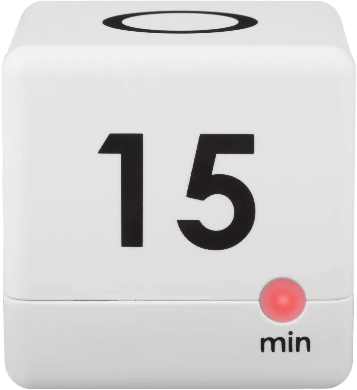 La Crosse Technology 919-186-60WH 5, 15, 30 or 60 Minutes Cube Timer - White