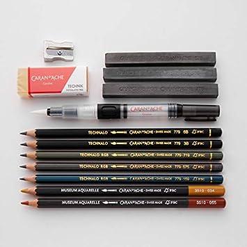 Caran d Ache 0775.306/Artist Graphite Line grafwood lapiceros con 6/grados de dureza