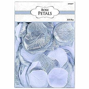 amscan Fabric Confetti Petals - Silver/White 50