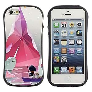 Suave TPU GEL Carcasa Funda Silicona Blando Estuche Caso de protección (para) Apple Iphone 5 / 5S / CECELL Phone case / / Minimalist Pastel White /