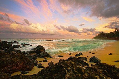 Hawaii Maui Sunset at Hookipa Beach Poster Print