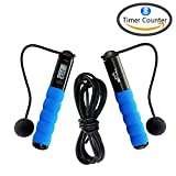 Bluetooth Jump Rope – Cross Fit Digital Calorie/Time/Speed/Fat/Jumping Counter Fitness Ropes for Indoor/Outdoor Exercise, Weight setting Adjustable Sports Cable for Men Women and Children (Blue) For Sale