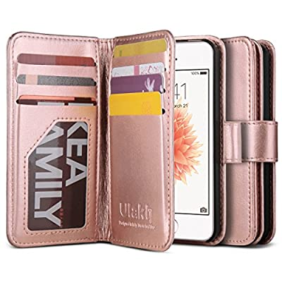 iPhone 5s Case, iPhone 5 Case, ULAK iPhone 5s/5/SE Wallet Case, Pattern PU Leather Magnet Wallet Flip Case Cover with Built-in Credit Card/ID Card Slots for 5s 5G 5 SE from ULAK