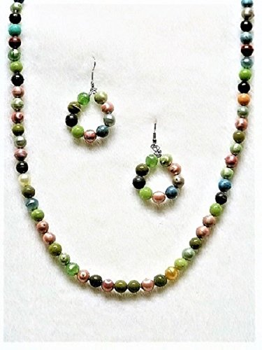 In All Fairness | Handmade Necklace w/Earrings Ensemble | Features Multi-Colored Acrylic Beads | Heirloom Quality | One of a Kind: Once sold, no other will be available.