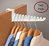 "2 PACK OVER DOOR HOOK- 9"" - FOR LAUNDRY - SUITS - COATS - DRESSES"