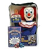 Bonus Bundle! Bozo The Clown Ventriloquist Dummy Doll PLUS Ventriloquism Revealed Booklet PLUS Two Finger gEyes