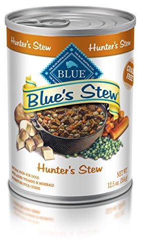 Blue Buffalo BlueS Stew Natural Adult Wet Dog Food, HunterS Stew 12.5-Oz Can (Pack Of 12)