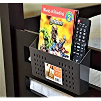 Bedside Storage, Bedside Caddy for Remote Controls, Bunk Bed Organizer (Brown) (Brown)