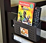 Bedside Storage, Bedside Caddy for Remote Controls, Bunk Bed Organizer (Brown)