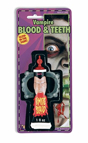 Vampire Vampiress Makeup Fake Blood Fangs Teeth Glow In Dark Costume Accessory -