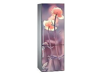 Kühlschrank Aufkleber : Amazon oedim vinyl stickers mohnblumen kühlschrank aufkleber