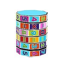 Interactive Fun Toy Digital Column Cube Toy Kindergarten Preschoolers Arithmetic Math Games Interactive Toys for Infants Fun Activity Sensory Kids Toys